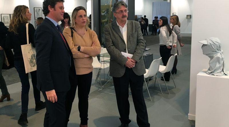 Jaime Sordo con Juan Silió y Marina Bolado en Artesantander