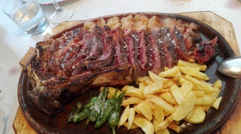 Carne de categoría superior en el Asador Llorente de Potes