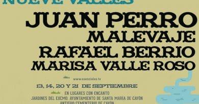 Juan Perro, Malevaje, Rafael Berrio y Marisa Valle Roso, en el ciclo Nueve Valles de Cayón