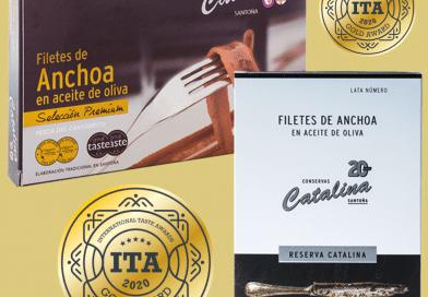 Las anchoas 'Premium' y 'Reserva Catalina' obtienen dos medallas de oro en los International Taste Awards (ITA)